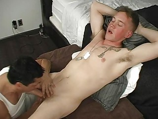 army gay man had his meat rod blown out