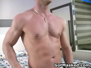 super good looking gay hunk dildoing gay sex