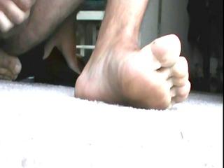 cumming on my foot 2