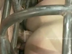 tied with hands behind sexy gay male acquires