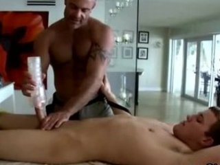 gay masseur jerks and is sucked by his straight