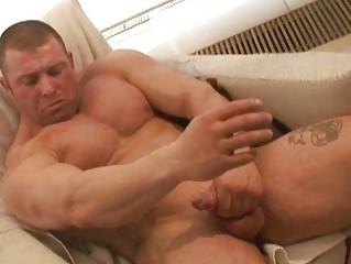 inflexible handsome gay hunks jerks off big boner