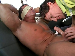 two randy gay studs having some super dick