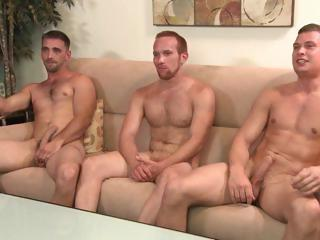 2 str8 men and a gay guy, but no chick
