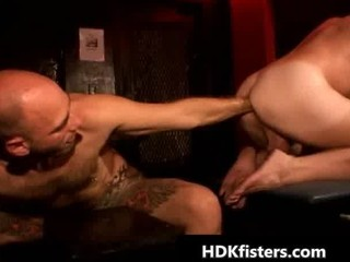 gay fucker takes his tattooed bottom fisted part1