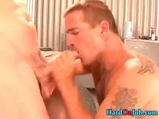 hunky stud obtains his hard chubby libido sucked