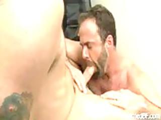 tattooed hunk gets deep bottom fuck 6 gay sex