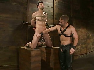 gay into bondage obtains his libido tortured