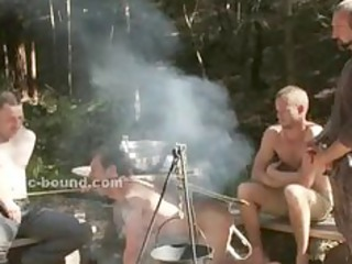 duo of gays caught in the forest and made to fuck