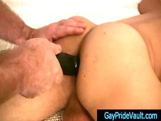 twink gets his anus stuffed deep with big plastic