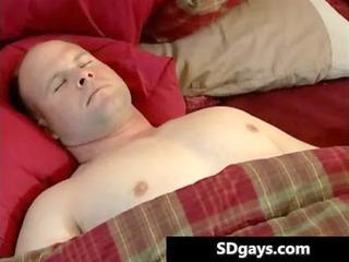 dolph is masturbating his inflexible schlong gay