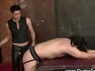 dumb gay takes spanked by his master