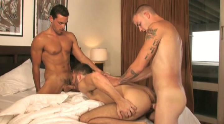 triple tanned and tattooed gay studs having