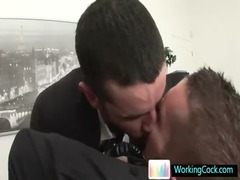 shocking gay hunks fucking and licking in agency