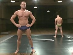 two muscle gods fight showed for sexual