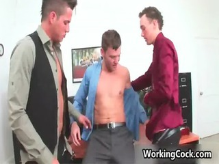 kirk cummings lick and fuck on bureau gay sex