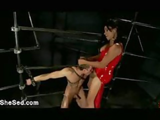 black latex shemale fucks bondaged gay male