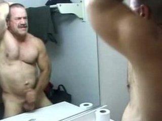 grownup gay bear pleasing with himself