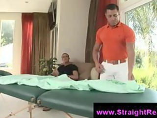 muscle gay masseur wont leave until he bangs