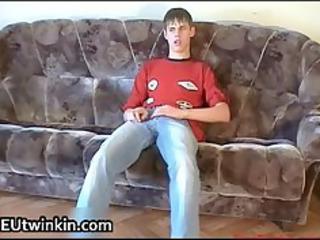 emak jerking off his sweet twink dick part1