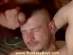 gay bukkake copulate