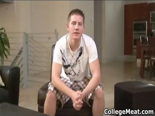chad macon jerking his cute university dick gay