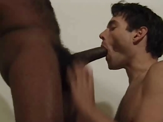 hirsute ebony and clean gay couple